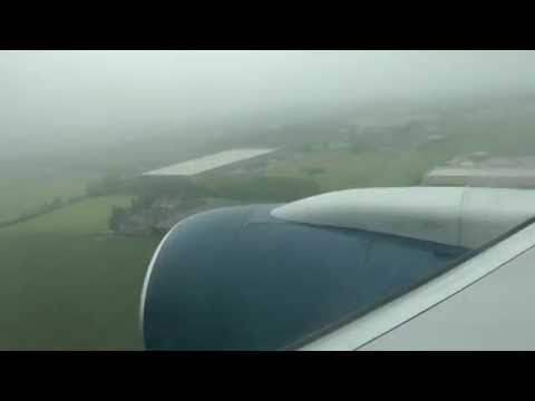 767 Foggy Landing At Dublin, Ireland.  with {Reverser Deploy}
