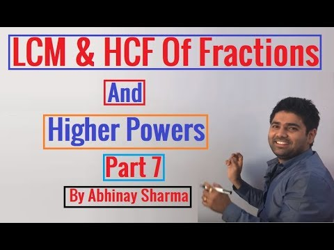 how to find hcf of fractions