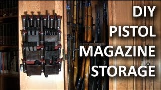Making A Pistol Magazine Storage Rack