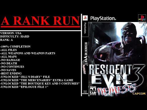 Resident Evil 3: Nemesis (PlayStation) - (Longplay | A Rank Run | Hard Difficulty)
