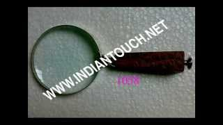 India Magnifying Glass With Wood Handle-indian Touch