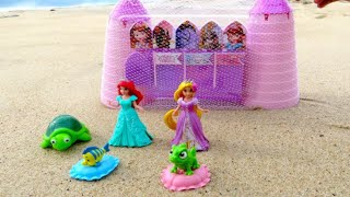 Disney Sofia the First Sand Castle Mold Set Kit with Magiclip Princess at the beach