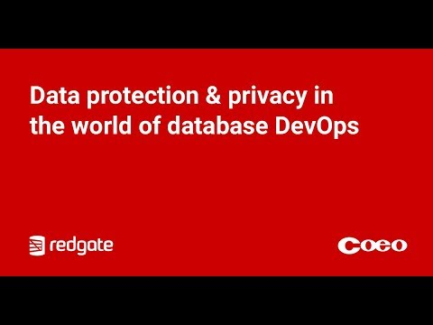 Data protection & privacy in the world of database DevOps