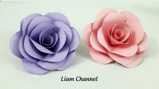 DIY Paper Roses Tutorial | Liam Channel