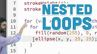 4.2: Nested Loops - p5.js Tutorial