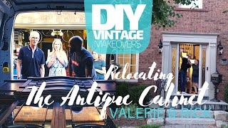 Relocating a Classic Antique Cabinet. DIY vintage makeover