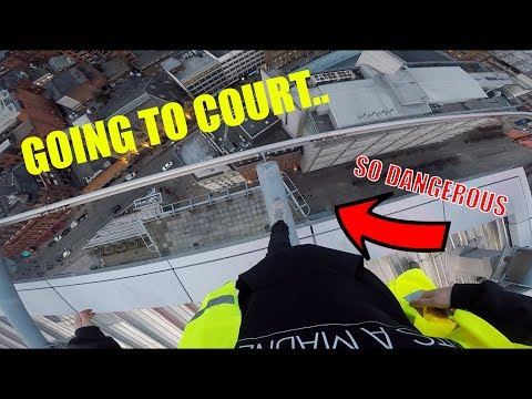 GOING TO COURT.. Then hitting an INSANE ROOFTOP!