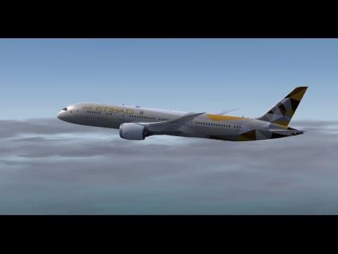 P3Dv4 QualityWings 787 VATSIM OMAA-OEJN ETD981
