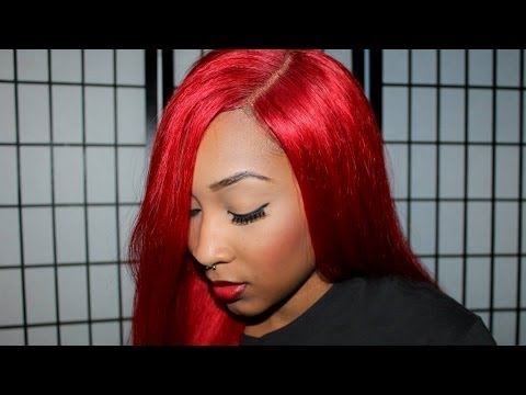 Red Full Lace Wig From Eva Wigs Youtube