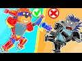 Lion Family 🍒 Iron Robot 14. Superhero Transformer   Cartoon for Kids