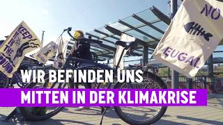 Activists Actions - Cycle against Gas-Tour gegen den Bau der EUGAL-Pipeline