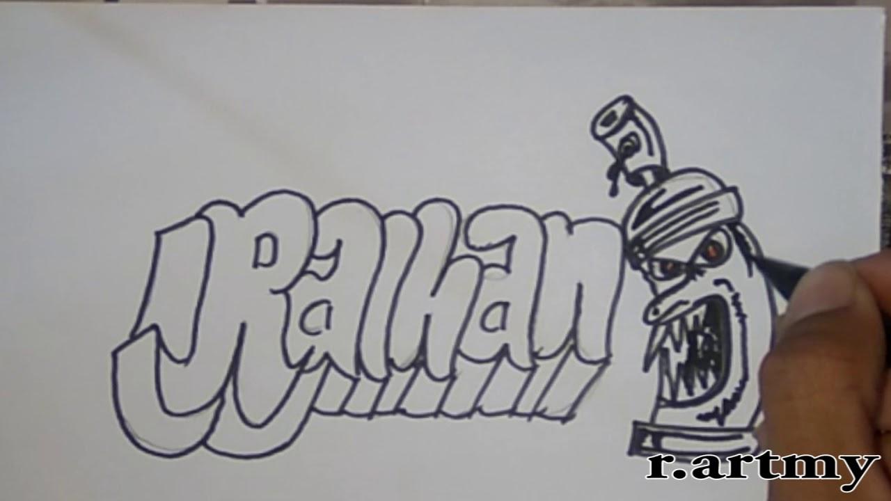 850 Gambar Grafiti Kartun Nama Di Kertas Gratis Terbaru