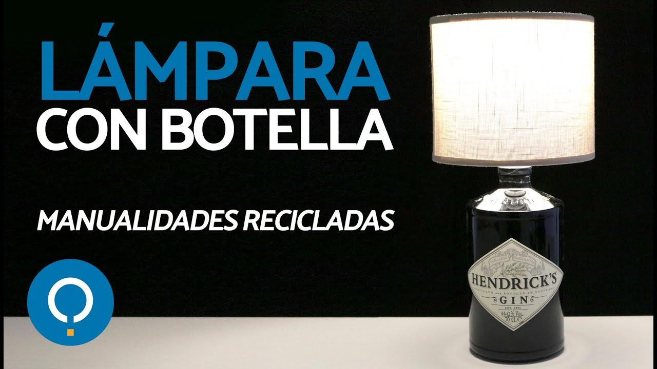 CASERA botellas Manualidades con LÁMPARA materiales con reciclados nm0yNvw8O