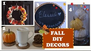 4 DIY FALL DECORS TO TRY!
