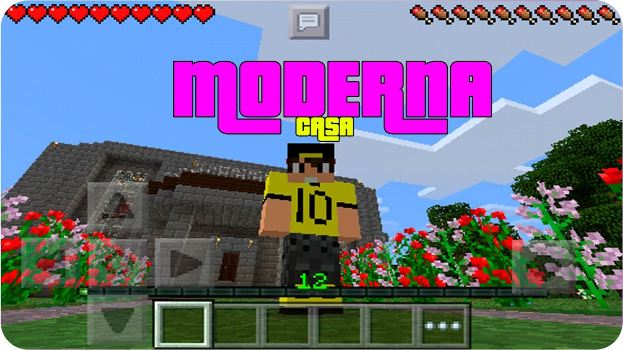 Casa moderna de piedra survival minecraft pe for Casa moderna minecraft 0 12 1