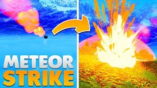 FIRST EVER *METEOR STRIKE* HITTING THE MAP | Fortnite: Battle Royale