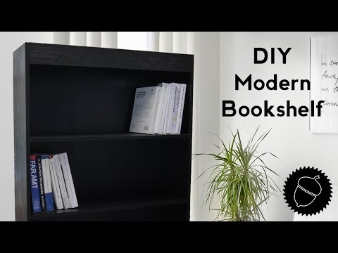 How to Build a Modern Bookshelf | Free Plans Included!
