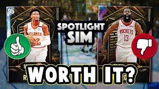 Gambar cover NBA 2K20 WHICH FREE SPOTLIGHT SIM REWARDS CARDS ARE WORTH GETTING? - NBA 2K20 MyTEAM