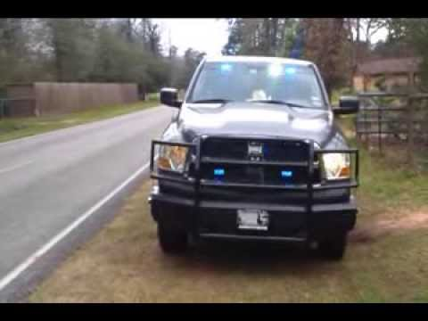 & Ram Truck Outfitted with Emergency Lights - YouTube