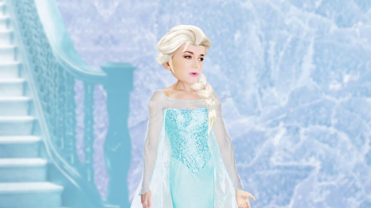 Annoying Orange vs Elsa Frozen Parody! ft  Rebecca Parham