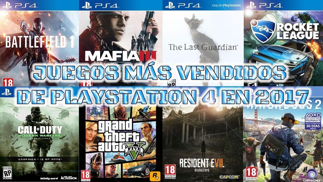 Videojuegos Mas Vendidos De Playstation 4 En 2017 Youtube