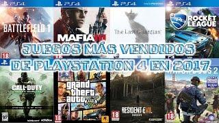 Videojuegos Más Vendidos De PlayStation 4 En 2017