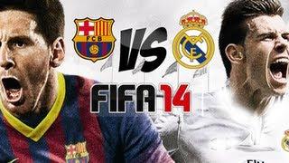FIFA 14 Gameplay   Barcelona FC VS Real Madrid