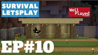 Minecraft Survival Letsplay Ep10 Horse Stables!