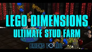 Lego Dimensions Ultimate Stud Farming In Year 2! MAKE OVER 10 MILLION STUDS A MINUTE!