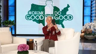 Ellen Drinks Good and Does Good with Naked Juice