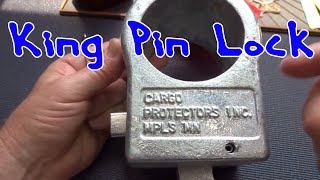 (1310) Tractor Trailer King Pin Lock Picked Open