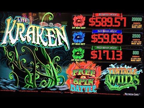 The Kraken Slot Machine - 3 Bonuses with Progressives - Multimedia Games
