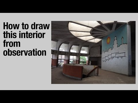 How to Draw this Interior from Observation (tutorial)