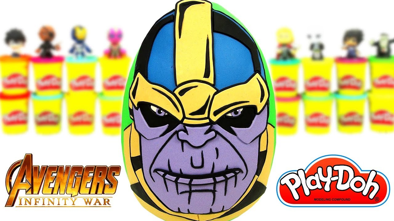 Yenilmezler Thanos Sürpriz Yumurta Oyun Hamuru Avengers Oyuncak