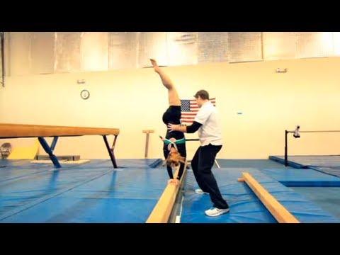 How To Walk On A Balance Beam Gymnastics Youtube