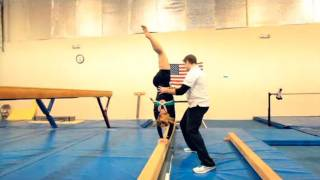How to Walk on a Balance Beam | Gymnastics