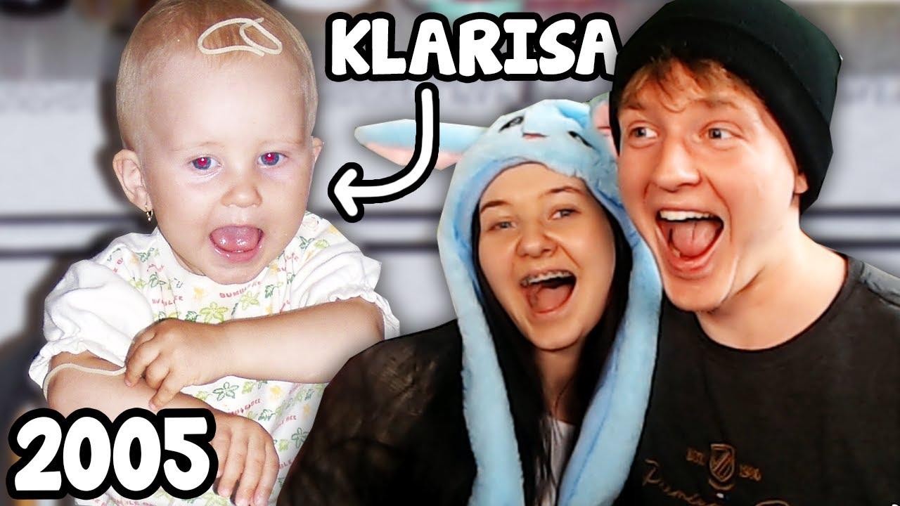 Reagujeme na NAJSTARŠIE VIDEÁ mojej sestry @Klarisa