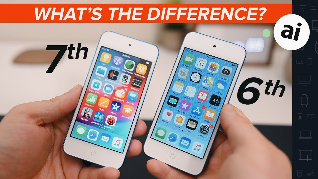 7th Gen Ipod Touch Vs 6th Gen Ipod Touch Youtube