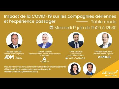 Table ronde sur limpact de la COVID-19 sur les compagnies aériennes et lexpérience passager