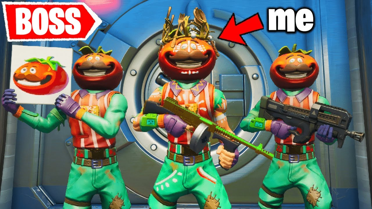 I Pretended I'm the TOMATO BOSS (Fortnite)