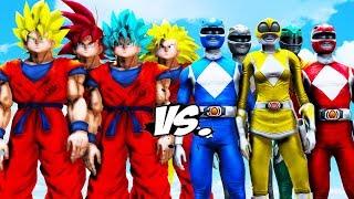 Mighty Morphin Power Rangers VS Goku Army - EPIC BATTLE