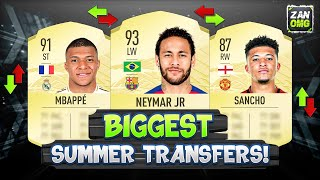 FIFA 21 | POTENTIAL SUMMER TRANSFERS!! 😱🔥 #1 | FT. POGBA, NEYMAR, MBAPPÉ...