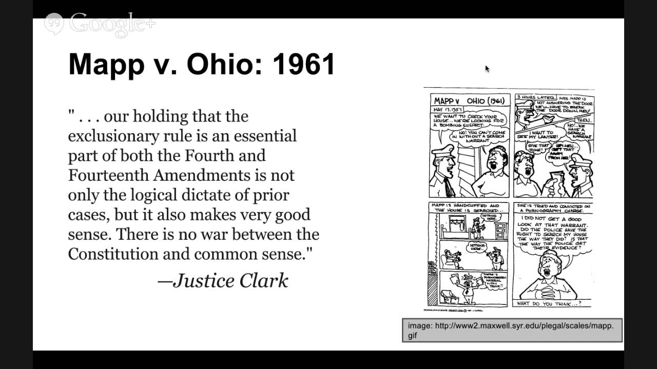 mapp vs ohio cort case Mapp v ohio no 236 supreme court of the announced by the court in the present case was the fourth amendment's ban when miss mapp did not come to the.