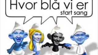 Hvor blå vi er (hvor små vi er) m. tekst