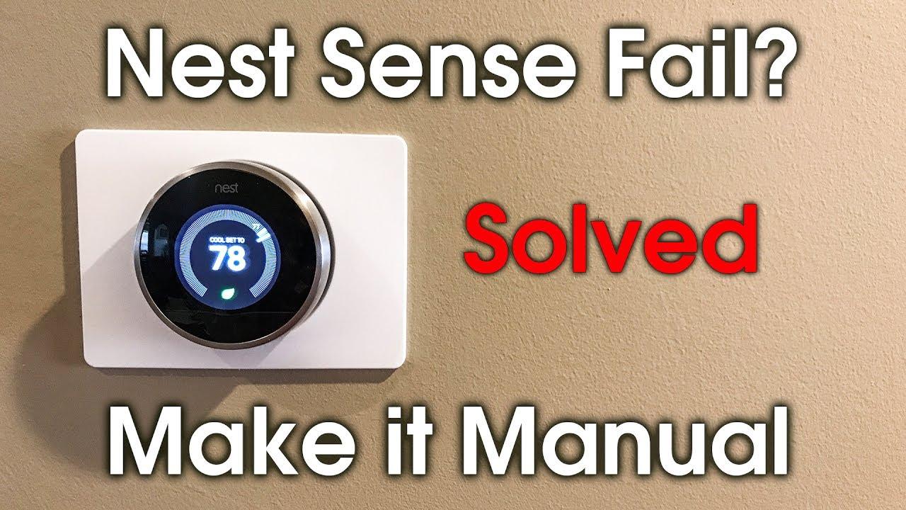 How to Set Nest Sense to Manual Mode