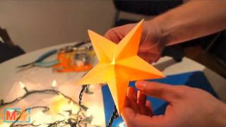 Papercraft Star Lantern on Make: Live ep22