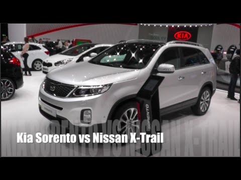kia sorento 2014 vs nissan x trail 2014 youtube. Black Bedroom Furniture Sets. Home Design Ideas
