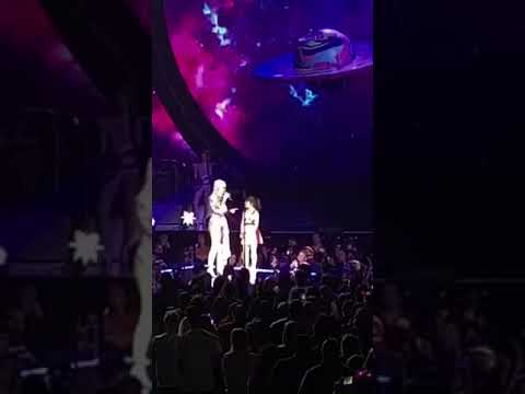 Amanda Mitchell goes on stage with Katy Perry