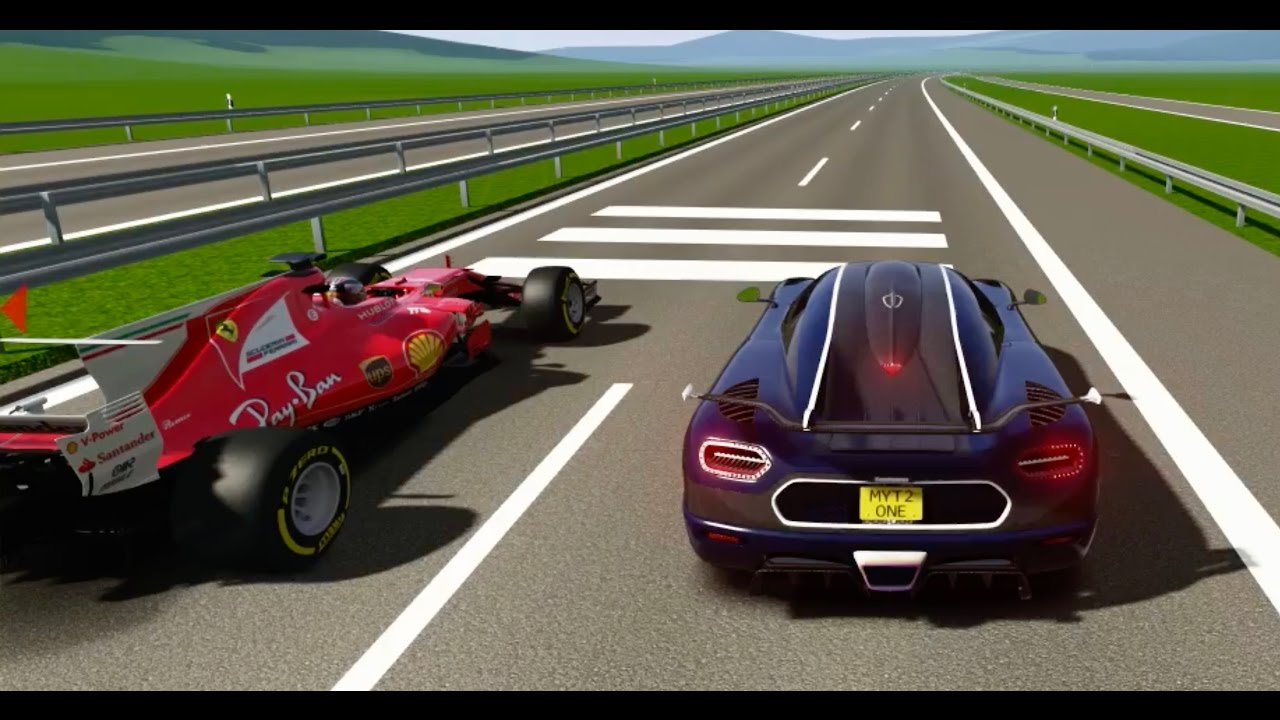 Ferrari F1 2017 vs Koenigsegg One:1- TOP SPEED BATTLES - YouTube
