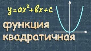 КВАДРАТИЧНАЯ ФУНКЦИЯ алгебра 8 и 9 класс